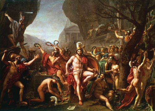 Leonidas at Thermopylae by Jacques Louis David
