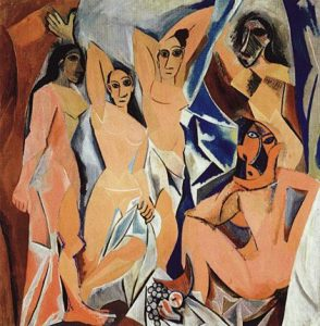 Cubism art depicted by Les Demoiselles d'Avignon