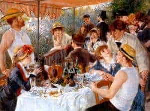 Impressionism art depicted by Luncheon of the Boating Party
