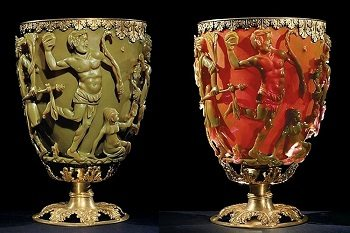 Roman artwork depicted by Lycurgus Cup