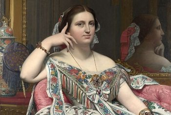 Beauty in Art depicted by Madame Moitessier