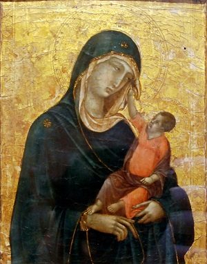 byzantine art depicted by Madonna and Child