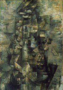 Cubism art depicted by Man with a Guitar