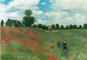 Cubism art depicted by Poppy Fields near Argenteuil