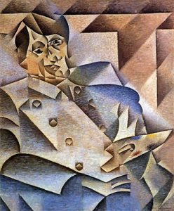Cubism art depicted by Portrait of Pablo Picasso
