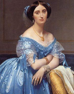 Beauty in Art depicted by Portrait of Princesse de Broglie
