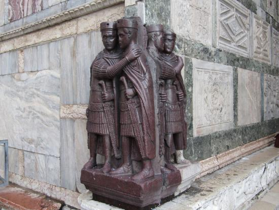 Roman artwork depicted by Portrait of the Four Tetrarchs