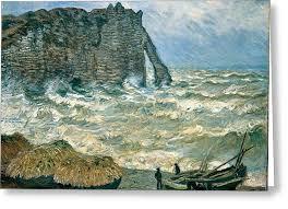 Stormy Sea in Étretat by claude monet