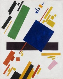 Abstarct art depicted by Suprematist Composition