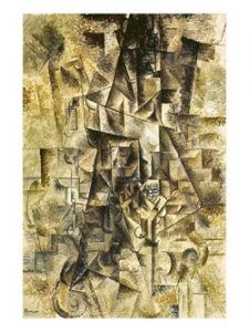 Cubism art depicted by The Accordionist