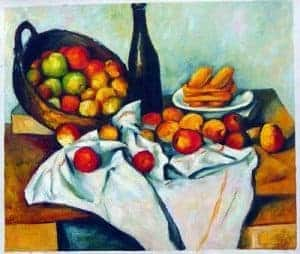 Cubism art depicted by The Basket of Apples