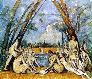 Cubism art depicted by The Bathers