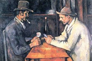 Cubism art depicted by The Card Players