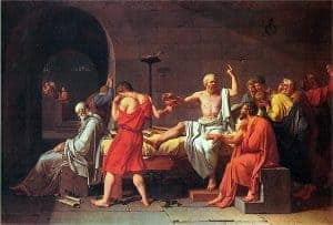Death in paintings by Jacques Louis David