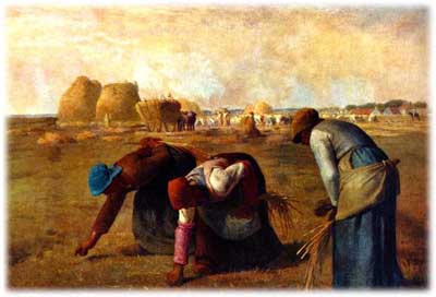 Realism art depicted by The Gleaners