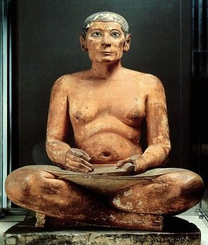 egyptian art depicted by The Seated Scribe