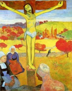 Impressionism art depicted by The Yellow Christ