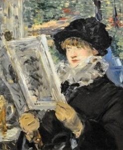 Impressionism art depicted by Woman Reading