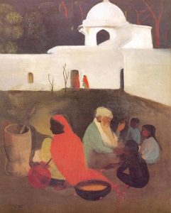 Ancient Storyteller by Amrita Sher-Gil