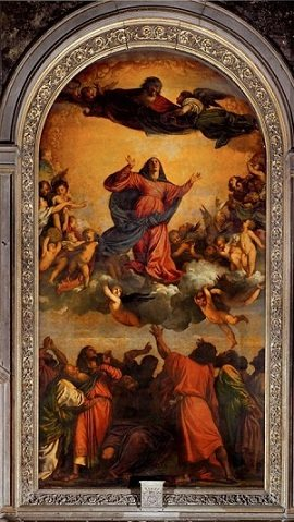 Assumption of Virgin by Titian