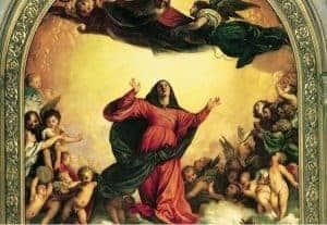 Women in Art depicted by Assumption of Virgin