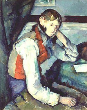 Boy in Red Vest by Paul Cezanne