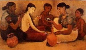 Bride's Toilet by Amrita Sher-Gil