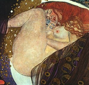 Danaë by Gustav Klimt