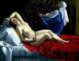 Danae by Artemisia Gentileschi
