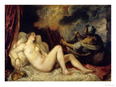Danae with Nursemaid by Titian