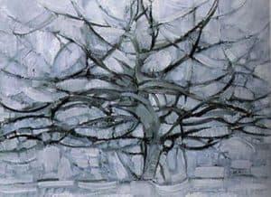 famous artwork Gray Tree by piet mondrian