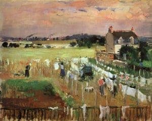 Hanging the Laundry out to Dry by Berthe Morisot