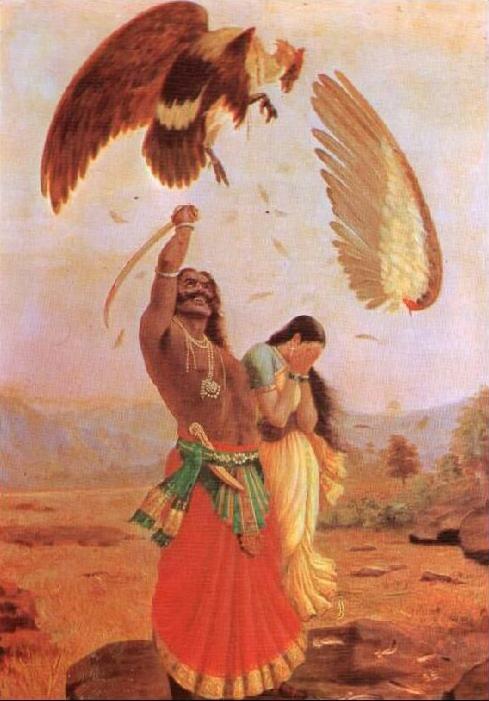 Jatayu Vadha by Raja Ravi Varma