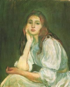Julie Daydreaming by Berthe Morisot
