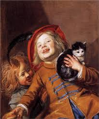 Laughing Children with a Cat by Judith Leyster
