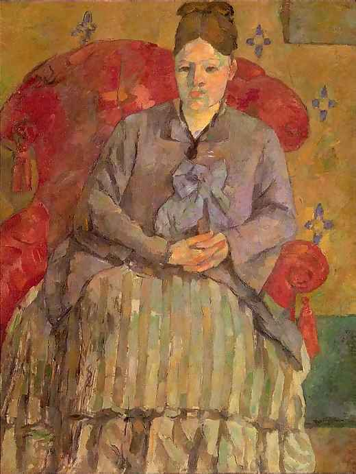 Madam Cézanne in a Red Armchair by Paul Cezanne