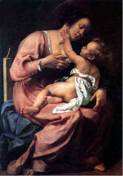 Madonna and Child by Artemisia Gentileschi