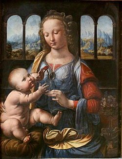 Madonna of the Carnation by Leonardo Da Vinci