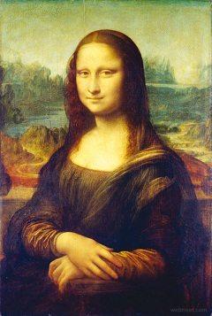 Famous Renaissance painting Mona Lisa by Leonardo da Vinci