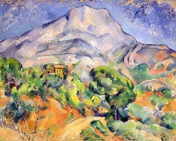 Mont Sainte-Victoire seen from Bellevue by Paul Cezanne