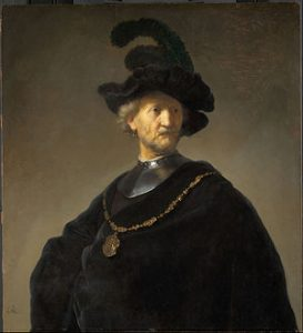 Old Man with a Gold Chain by Rembrandt