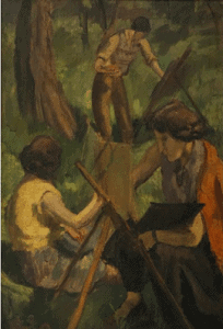 Open Air Painters by Amrita Sher-Gil 1938