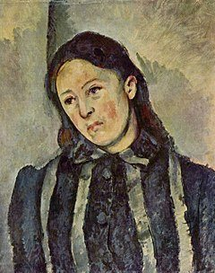 Portrait of Madame Cézanne with Loosened Hair by Paul Cezanne