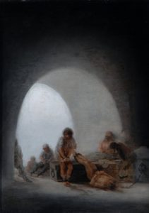 Prison Interior by Fransesco Goya