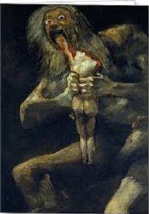Saturn Devouring His Son by Fransesco Goya