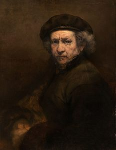 Self-Portrait with Beret and Turned-Up Collar by Rembrandt