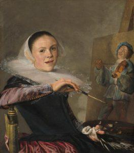 Self-portrait by Judith Leyster