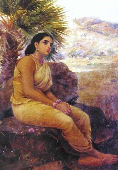 Shakuntala by Raja Ravi Varma