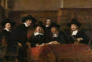 Syndics of the Drapers' Guild by Rembrandt