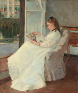 The Artist's Sister at a Window by Berthe Morisot